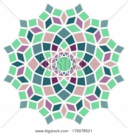 soft pastels colorful round symmetry pattern, simple mandala