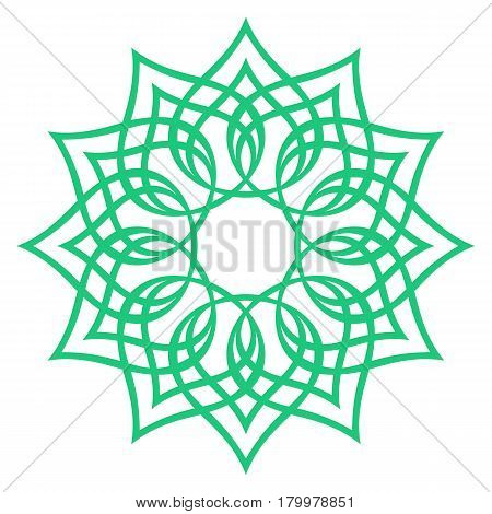 green round symmetry pattern, simple mandala, rosette