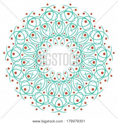 blue and orange round symmetry pattern, mandala, rosette