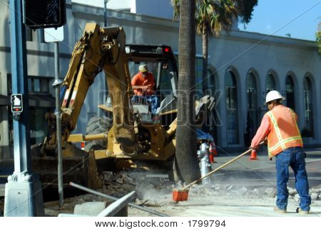 Construction Site In Beverly Hills
