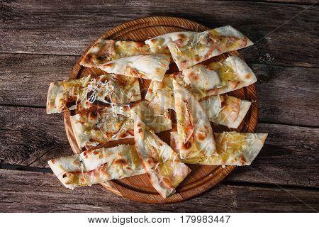 Pizza Sliced Junk Fast Food Unhealthy Habit Calories Fatness Concept
