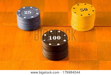Popular board games poker chips the equivalent of money prize for victory