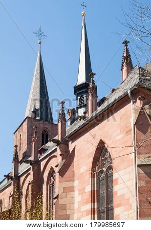 Spiers On The Roof Of Stiftskirche