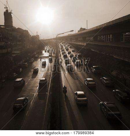 Street Busy Road Car Crowded
