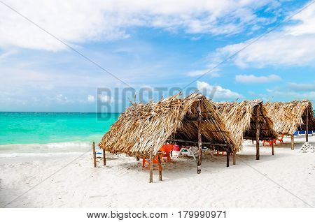 Cabin at the beach by Baru in Colombia next to Cartagena