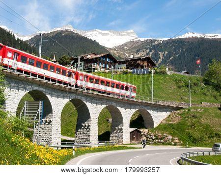 Bridge Of The Rhaetian Railway
