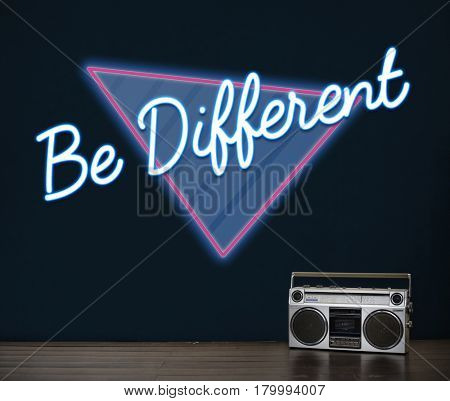 Be Different Thinking Conceptual Inspire Word