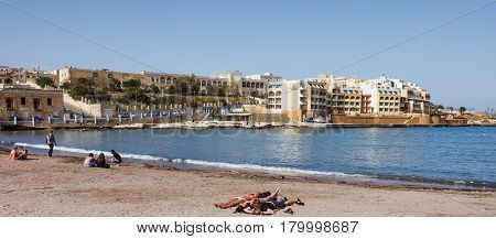 St. Georgeis Bay In Malta