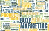 Marketing Buzz and Building the Hype as Concept poster