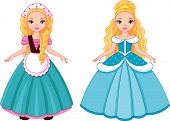 Little Princess Cinderella before and after transformation poster