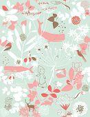 Vector Children's Amusing Garden Pattern (seamless) poster