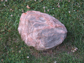 Stone On Lawn