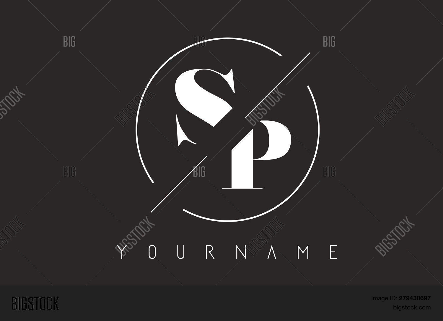 Sp Letter Logo Cutted Vector Photo Free Trial Bigstock