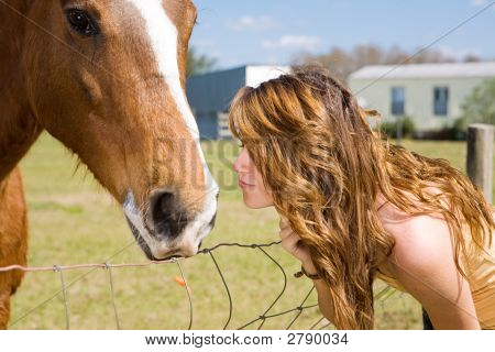 Kiss For Horse