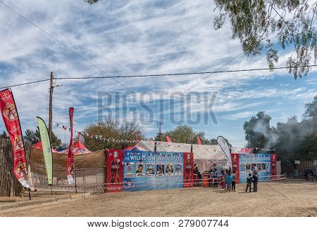 Williston, South Africa, August 31, 2018: The Entrance To The Yearly Winter Festival In Williston In