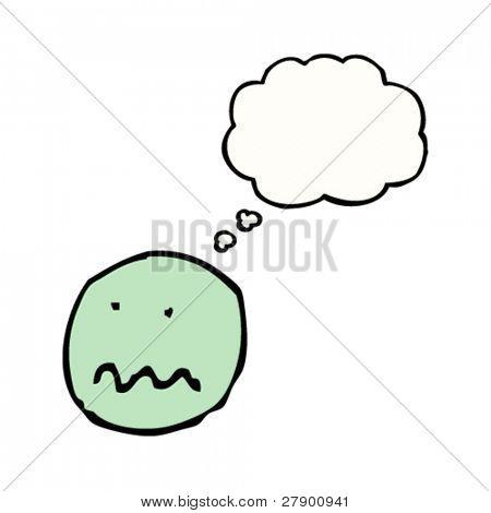 nauseous emoticon face cartoon