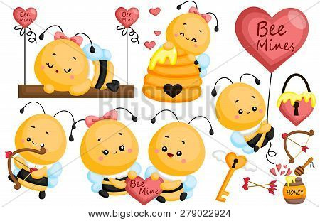 A Vector Of A Bee Couple In Love