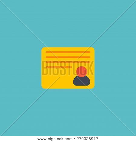 Personal Task Icon Flat Element. Vector Illustration Of Personal Task Icon Flat Isolated On Clean Ba