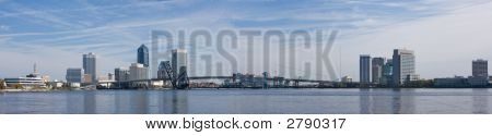 Jacksonville Skyline Panoramic