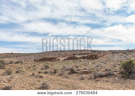 The Ruin Of A Livestock Enclosure Near Middelpos In The Northern Cape Province Of South Africa
