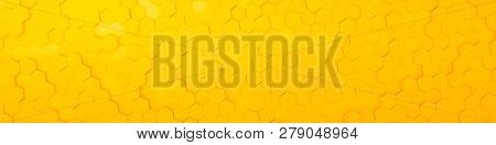 3d illustration of a yellow hexagon background