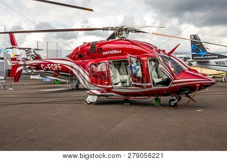 Le Bourget Paris - Jun 18, 2015: Bell 429 Wlg Globalranger Helicopter Showcased At The Paris Air Sho