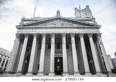 New York City, New York, Usa - July 4, 2018; New York City Supreme Court, Civil Branch Of The Suprem