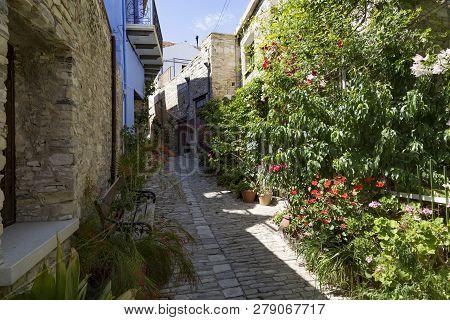 Pano Lefkara, Cyprus.  Mountain World Famous Village -  Place Of Folk Crafts,  National Heritage. Na