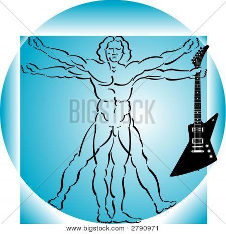 Vitruvian Man With Guitar