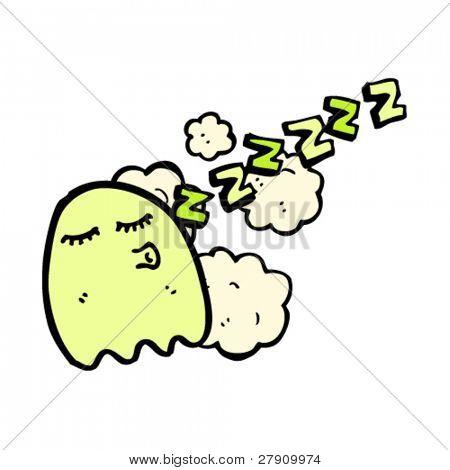 sleeping ghost cartoon