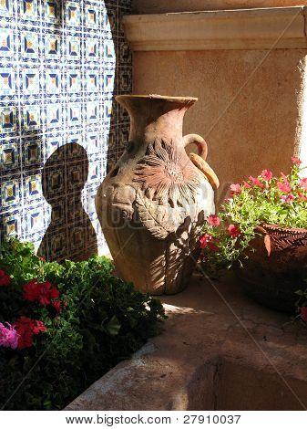Ornate Terra Cotta Pot