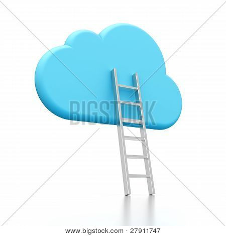 Cloud Icon And Ladder