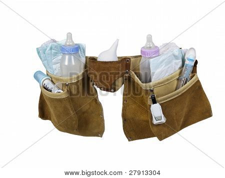 Baby Items Filling Leather Tool Belt