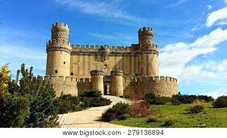 Castillo De Manzanares El Real En La Provincia De Madrid