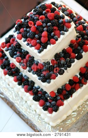 Berries On A Wedding Cake