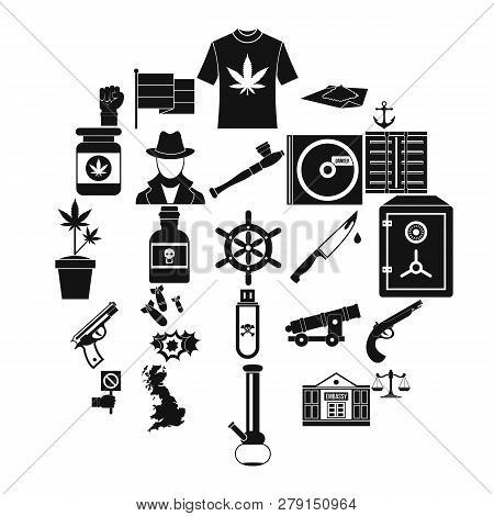 Crime Investigation Icons Set. Simple Set Of 25 Crime Investigation Vector Icons For Web Isolated On