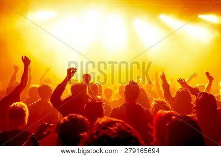concert crowd at rock concert