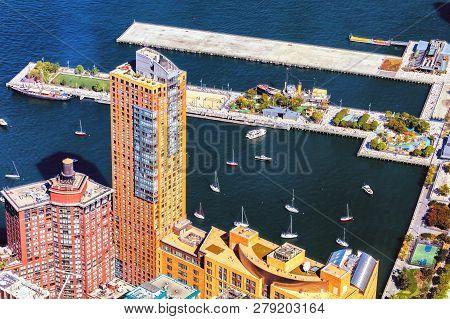 New York City, Hudson River Park And Stuyvesant High School