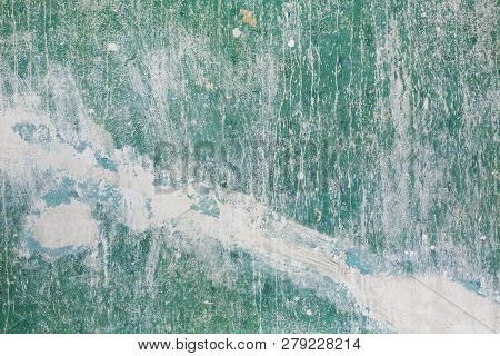 Dirty Old Wall With Pealing Paint For Backgrounds
