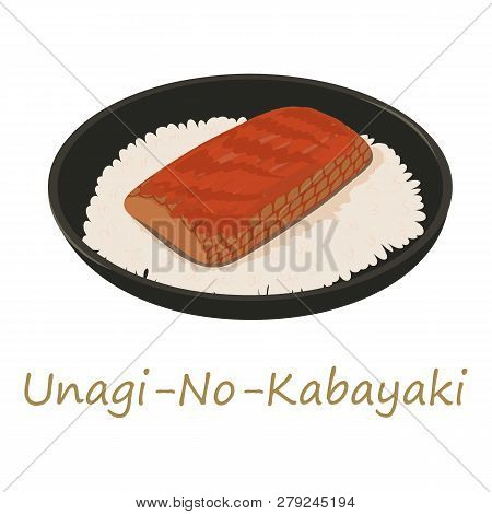Unagi Kabayaki Icon. Cartoon Illustration Of Unagi Kabayaki Icon For Web Isolated On White Backgroun
