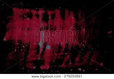 Abstract Dramatic Background With Grunge Red Spots On Black Background