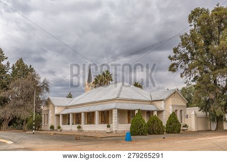 Vosburg, South Africa, September 1, 2018: The Parsonage Of The Dutch Reformed Church In Vosburg In T