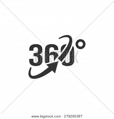 360 View Icon Graphic Design Template Vector Isolated