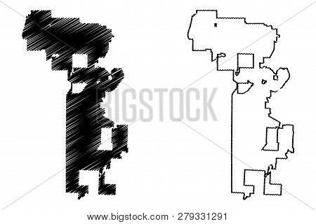 Kansas City (united States Cities, United States Of America, Usa City) Map Vector Illustration, Scri