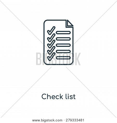 Check List Icon In Trendy Design Style. Check List Icon Isolated On White Background. Check List Vec