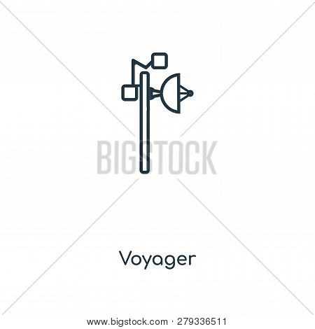 Voyager Icon In Trendy Design Style. Voyager Icon Isolated On White Background. Voyager Vector Icon