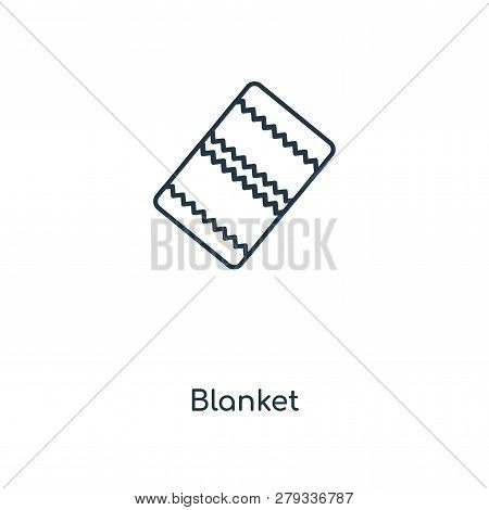 Blanket Icon In Trendy Design Style. Blanket Icon Isolated On White Background. Blanket Vector Icon