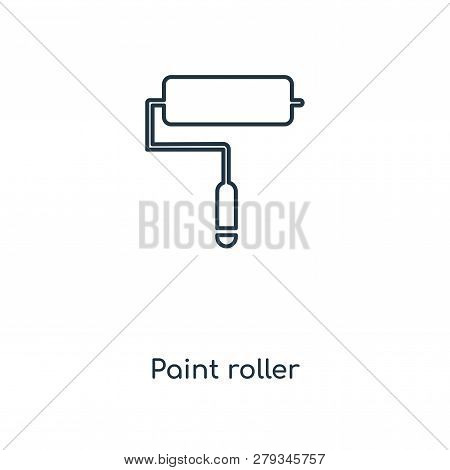 Paint Roller Icon In Trendy Design Style. Paint Roller Icon Isolated On White Background. Paint Roll