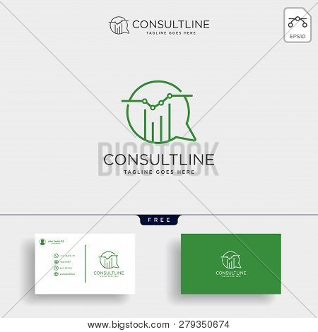 Chart Consulting, Business Consult Creative Logo Template Vector Illustration