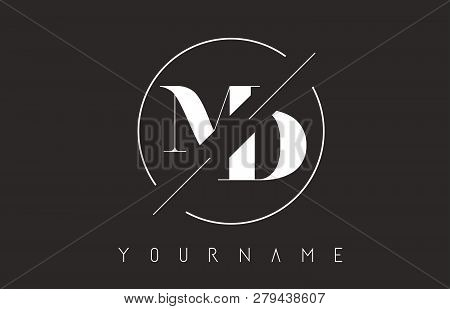 Md Letter Logo With Cutted And Intersected Design And Round Frame Vector Illustration
